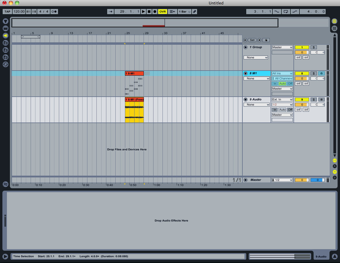 In Ableton you can free a track and once it's frozen you can grab the midi file into an audio track and use the waveform as you desire. Anything less than this type of functionality will have us right back here on ideascale.