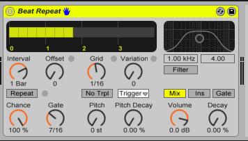 And give it some cool options like the Ableton beat repeat plugin.