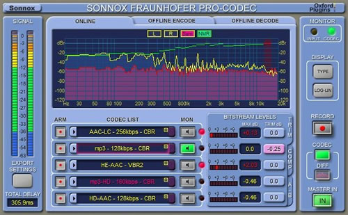 Bounce to WAV, MP3, MP3Surround, MP3HD, AAC-LC, HE-AAC, HE-AACv2, HD-AAC at the same time with Sonnox-Plugin @ 295.- GBP. http://www.sonnoxplugins.com/pub/plugins/products/pro-codec.htm